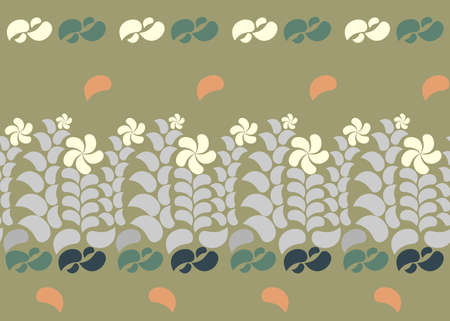 flax seed: Seamless floral background with plants ornament. Illustration