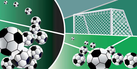 soccer goal: Abstract soccer background with goal. Vector.