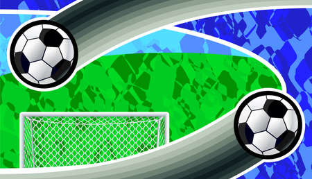 Soccer goal and ball  background. Vector