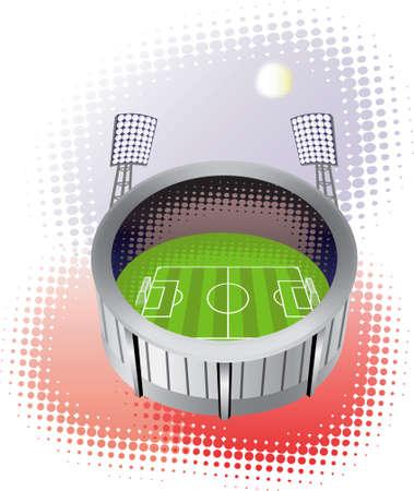 soccer stadium: Soccer stadium. Vector illustration.