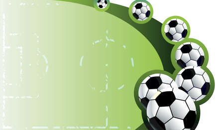Soccer  balls  background Vector