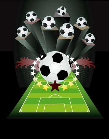 futbol soccer dibujos: Fútbol de fondo con bolas
