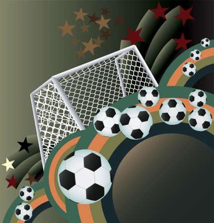 soccer goal: Soccer background with goal Illustration