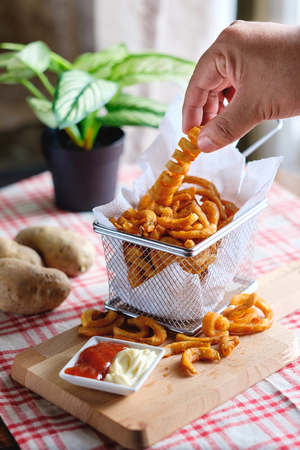 Curly Fries in a bowl