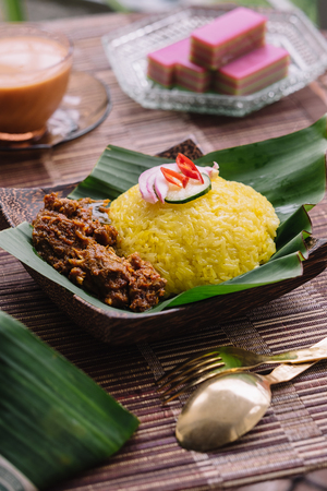 Pulut Kuning  in a plate Stock Photo - 95002665