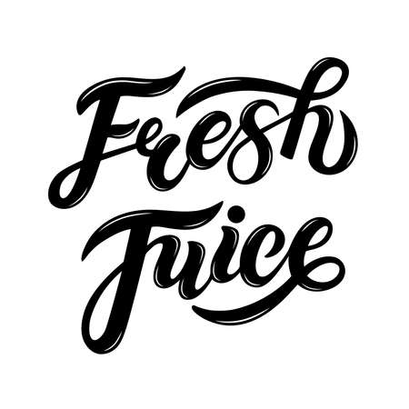 Fresh Juice. Hand drawn lettering.