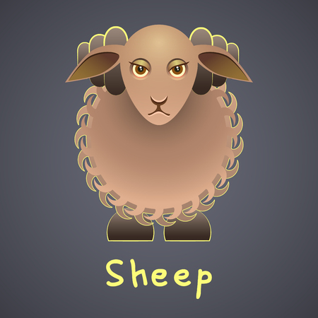 Fanny Sheep on a gray background Vector