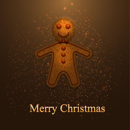 christmas cookies: Greeting card with Christmas cookies.