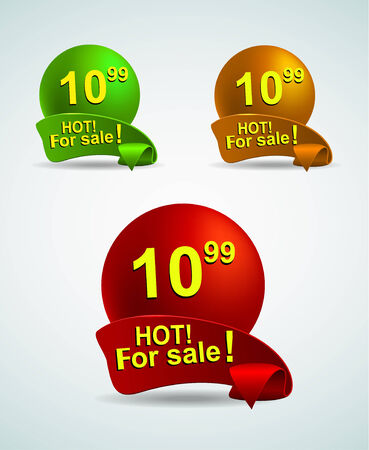 soft sell: set of bright banners for your business for sale.