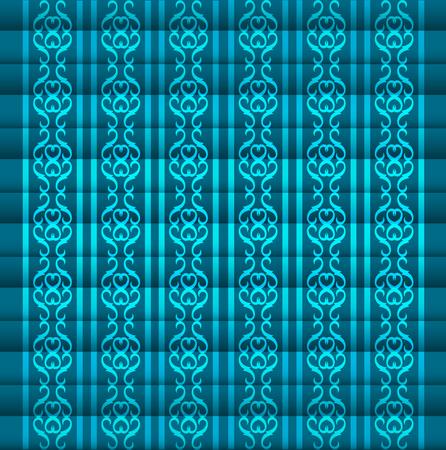 vintage pattern background: Vintage victorian retro seamless pattern. Vector illustration Illustration