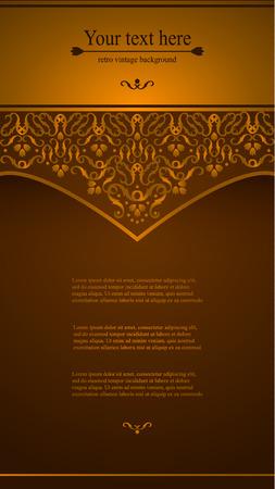 a luxury: Elegant vintage card, flyer, invitation. template. Design background with ornate floral pattern. Vector illustration
