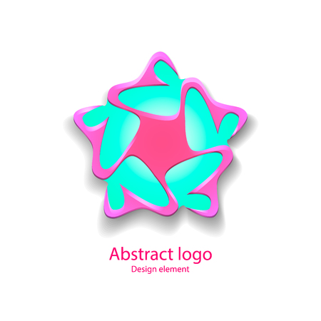 Icon in the shape of a star. design element. vector illustration Vector