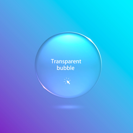 realistic transparent bubble on a light background. Vector illustration Vector