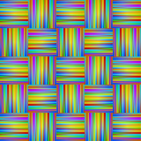 textiles: seamless rainbow Background with Lines and Stripes, sewing textiles.  Illustration