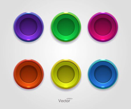 button icons: Colorful button, icons for your site.