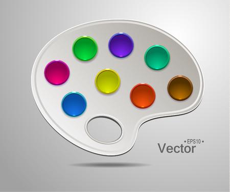 art palette: Modern art palette with colors Illustration