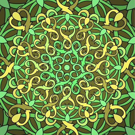 cult: %u0421olour decorative background with a circular pattern. Mandala.