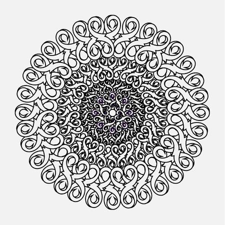 contour: contour, monochrome Mandala.