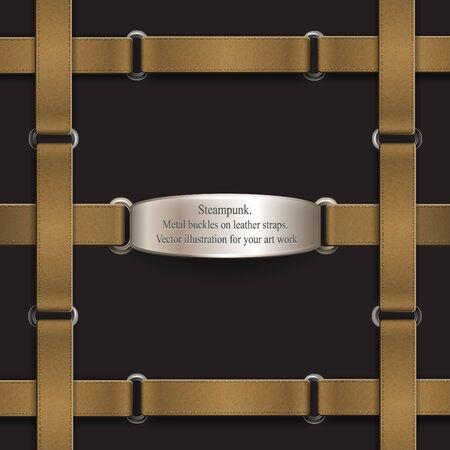 belts: Frame made of leather belts.