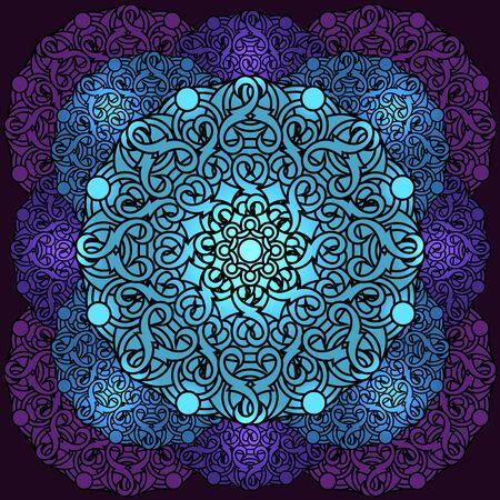 cult: decorative design element with a circular pattern. Mandala. Vector illustration