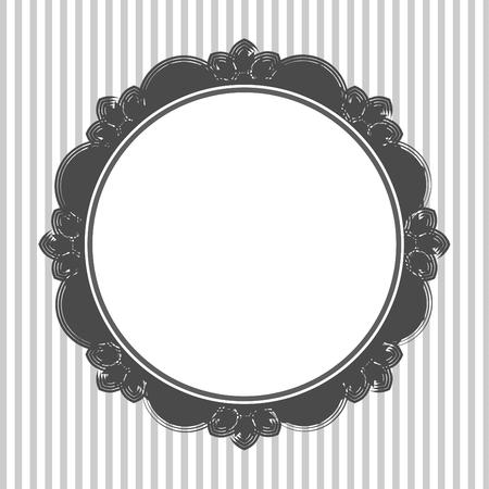 openwork: vintage, retro, round, openwork frame. Decorative wallpaper. vector illustration Illustration