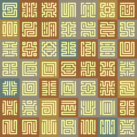 germanic people: Seamless pattern with runic Square patterns. Runes