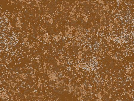 natural rusty texture, imitation of rust. seamless Vector pattern Ilustração