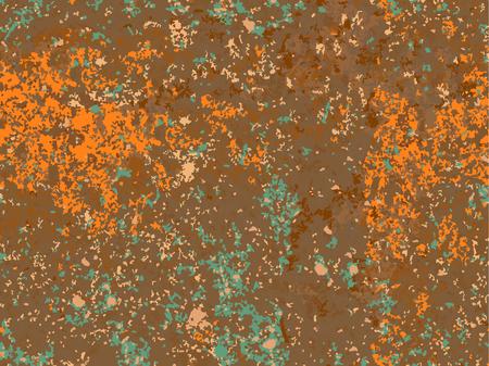Textura oxidada natural, imitación de óxido. patrón de vector transparente