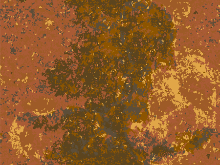 natural rusty texture, imitation of rust. seamless Vector pattern Illustration