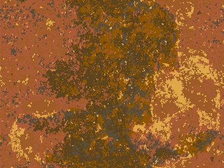 natural rusty texture, imitation of rust. seamless Vector pattern Illustration