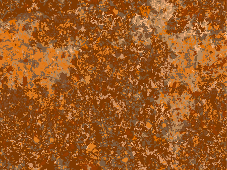 natural rusty texture, imitation of rust. seamless Vector pattern Stock Illustratie