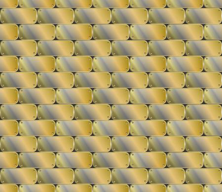 placa de metal industrial sin fisuras. textura ilustración vectorial