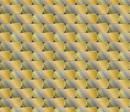 Industrial seamless metal plate texture. Vector illustration Stock Illustratie