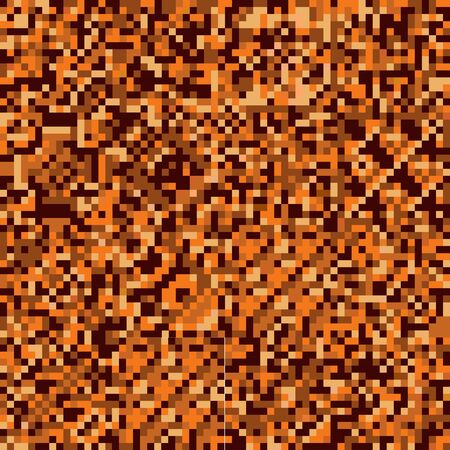 seamless geometric squares, pixel texture, vector pattern in warm brown colors