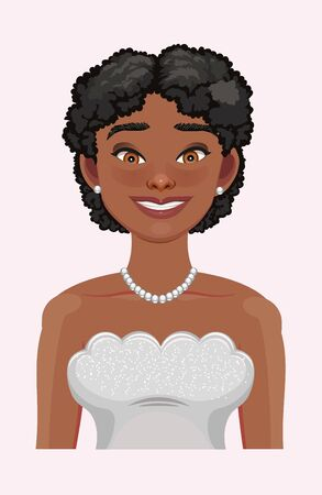 African American pretty girl. Vector Illustration. Great for avatars