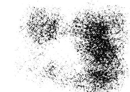 Grunge abstract black-white texture. Vector pattern Vector Illustratie
