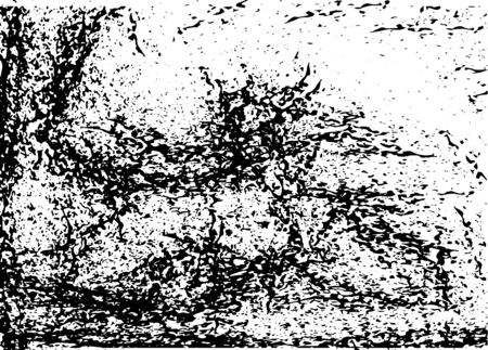 Grunge abstract black-white texture. Vector pattern Vettoriali