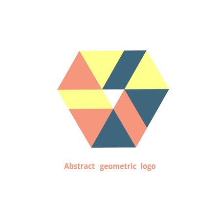 abstract geometric logo on a white background. Vector illustration