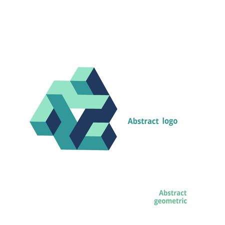 abstract geometric logo on a white background. Vector illustration Logo