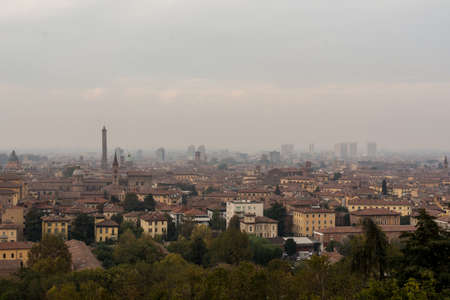 The view of Bologna from San Michele in Bosco Stock fotó - 88642645