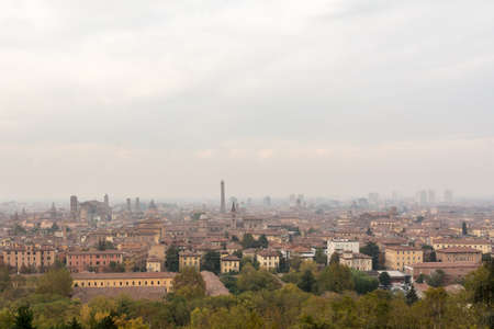 The view of Bologna from San Michele in Bosco