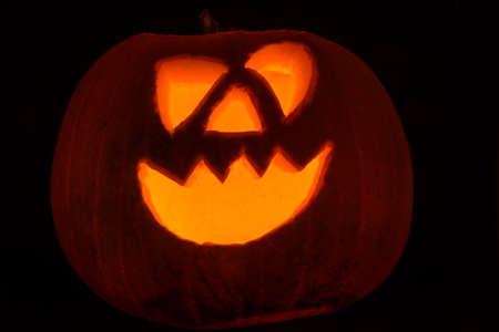 Halloween pumpkins isolated on a black background Stock fotó