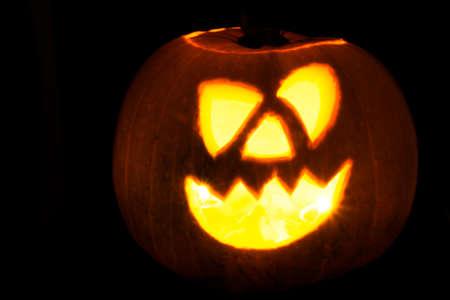Halloween pumpkins isolated on a black background Stock fotó - 88935454