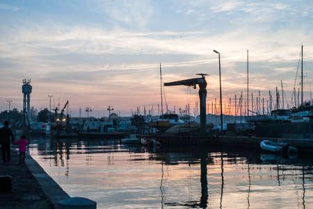 Cesenatico, November 1 2014: View of the pier of Cesenatico Stock fotó - 89673749