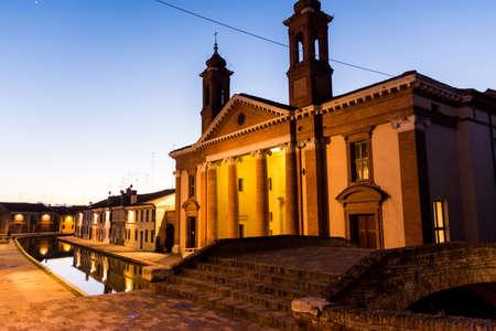 Comacchio, January 3 2017: View of the museum from the Bridge Degli Sibirri Sajtókép
