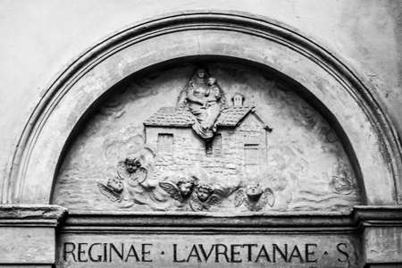 Catholic engraving at Le sette Chiese, Bologna - Emilia Romagna Stock fotó - 92544743