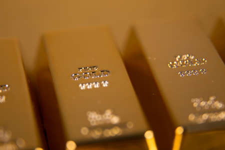 lingotes de oro: lingotes de oro Foto de archivo
