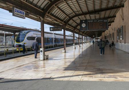 Zagreb, Croatia, March 7th, 2019, main train station.