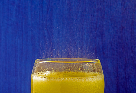 Cold refreshing drink with bubbles Stock Photo