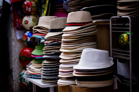 white hats in a row photo